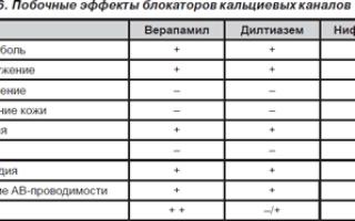 Блокаторы кальциевых каналов: список препаратов, что это, механизм действия